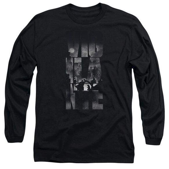 Batman V Superman Rainy Viglante Long Sleeve Adult T-Shirt