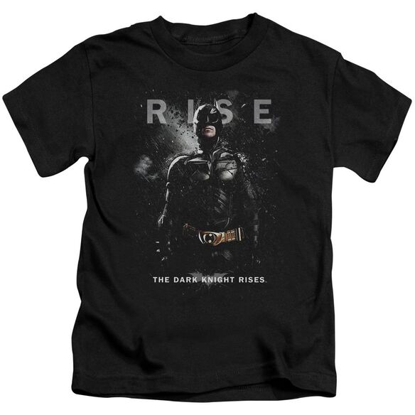 Dark Knight Rises Batman Rise Short Sleeve Juvenile Black Md T-Shirt