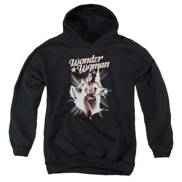 Jla Ww Break Out Youth Pull Over Hoodie