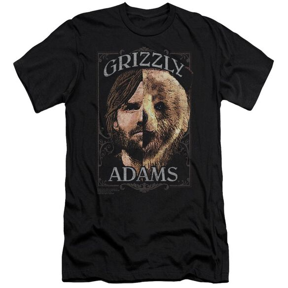 Grizzly Adams Half Bear Short Sleeve Adult T-Shirt