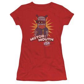 Dubble Bubble Motor Mouth Short Sleeve Junior Sheer T-Shirt