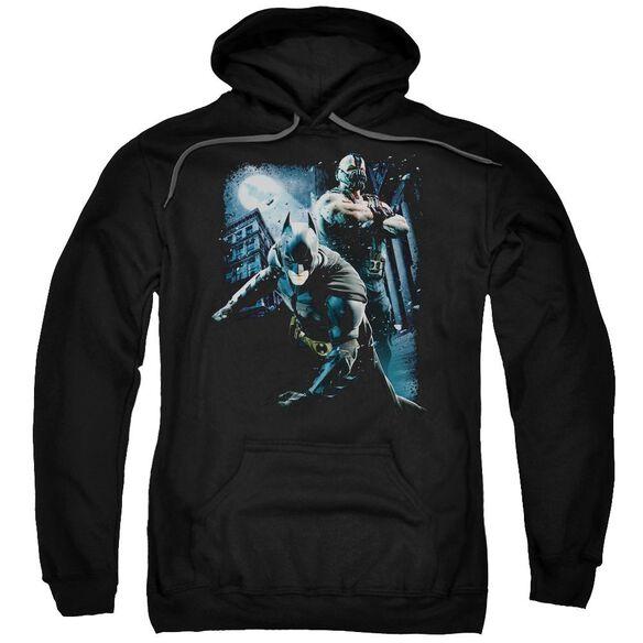 Dark Knight Rises Battlefield Gotham Adult Pull Over Hoodie