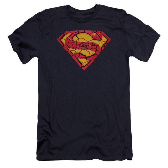 Superman Shattered Shield Premuim Canvas Adult Slim Fit