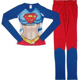 Supergirl Suit Long Sleeve Junior Pajama Set