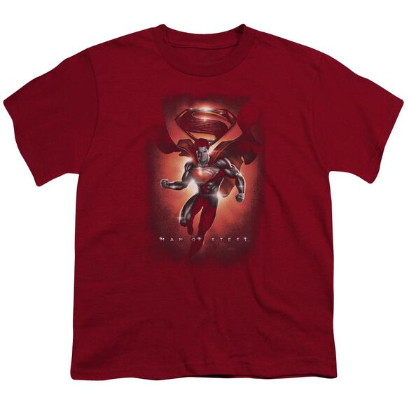 Man Of Steel Title Short Sleeve Youth T-Shirt