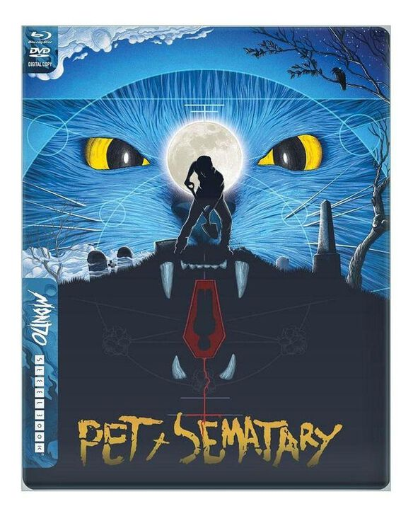 Pet Sematary [Exclusive 30th Anniversary Blu-ray Mondo x Steelbook] [BD+DVD+Digital] with Limited Edition Original Theatrical Poster