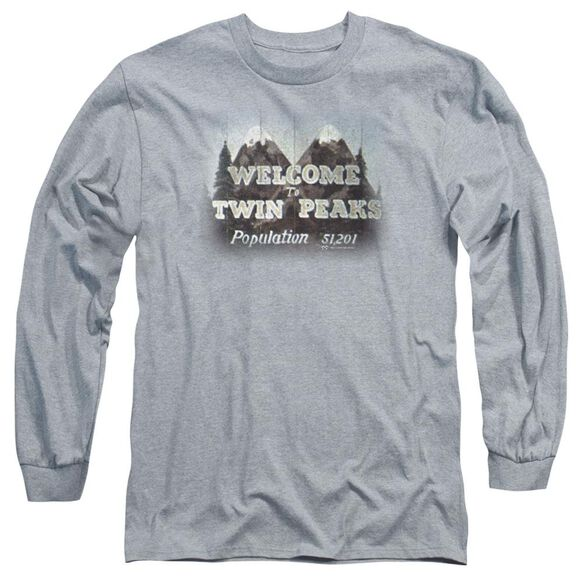 Twin Peaks Welcome To Long Sleeve Adult Athletic T-Shirt