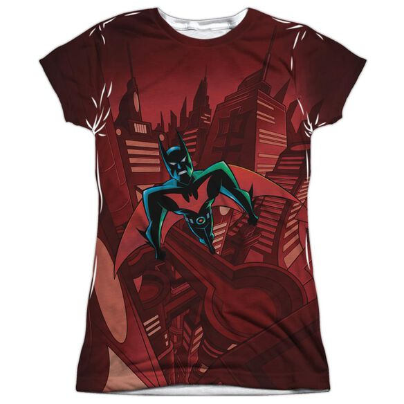 Batman Beyond Red Gotham Short Sleeve Junior Poly Crew T-Shirt