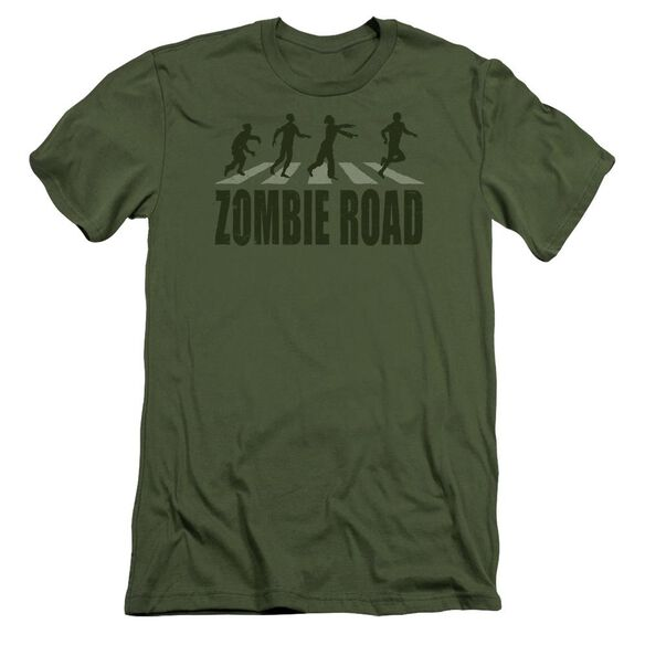 Zombie Road Short Sleeve Adult Military T-Shirt