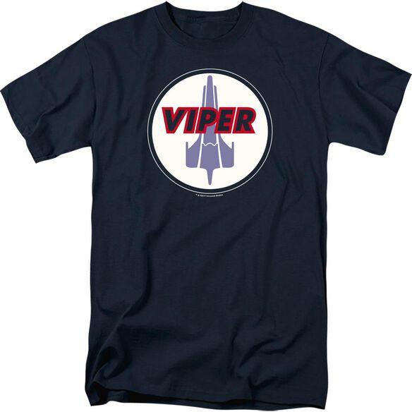 BSG VIPER BADGE - S/S ADULT 18/1 - NAVY T-Shirt