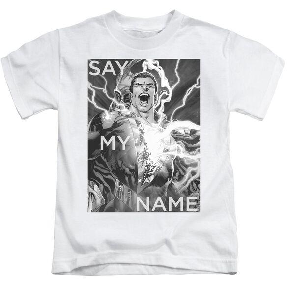 Jla Say My Name Short Sleeve Juvenile White T-Shirt