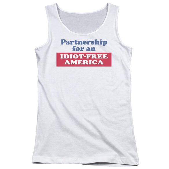 Idiot Free America Juniors Tank Top