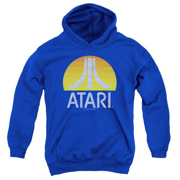 Atari Sunrise Eroded Youth Pull Over Hoodie Royal