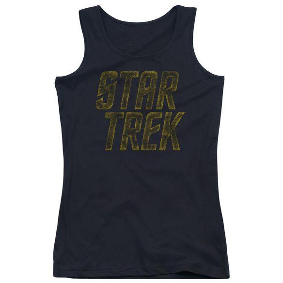 Star Trek Distressed Logo Juniors Tank Top