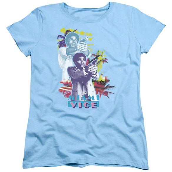 Miami Vice Freeze Short Sleeve Women's Tee Light T-Shirt