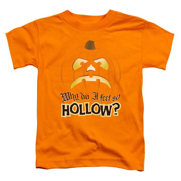 Hollow Short Sleeve Toddler Tee Orange T-Shirt
