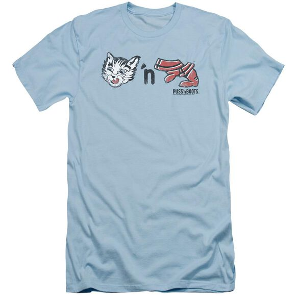 Puss N Boots Rebus Logo Short Sleeve Adult Light T-Shirt