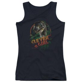 Jurassic Park Clever Girl - Juniors Tank Top - Black