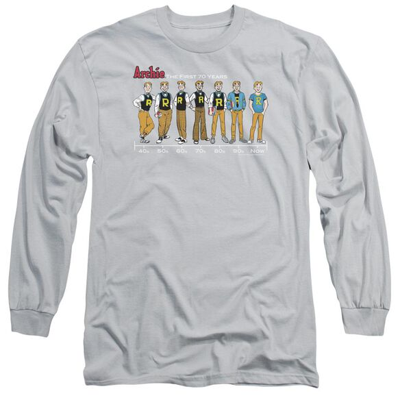 Archie Comics Archie Timeline Long Sleeve Adult T-Shirt