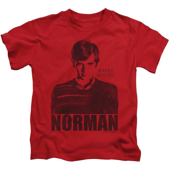 Bates Motel Norman Short Sleeve Juvenile Red Red T-Shirt