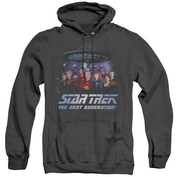 Star Trek Space Group - Adult Heather Hoodie - Black