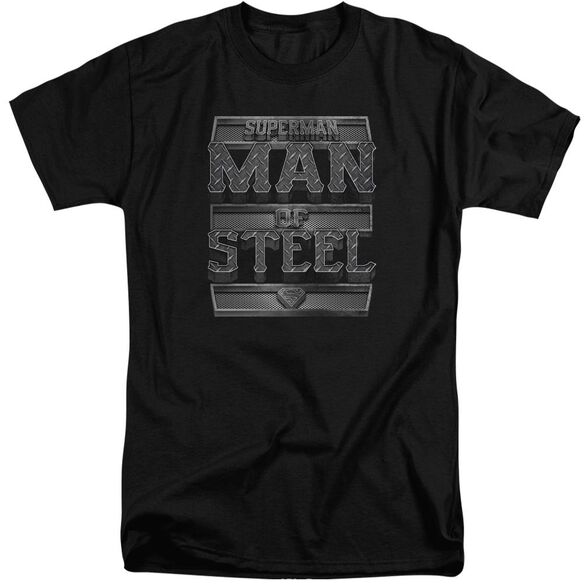 Superman Steel Text Short Sleeve Adult Tall T-Shirt