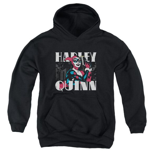 Batman Harley Bold Youth Pull Over Hoodie