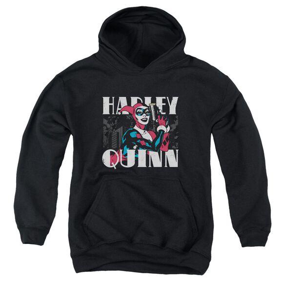 Batman Harley Bold Youth Pull Over Hoodie