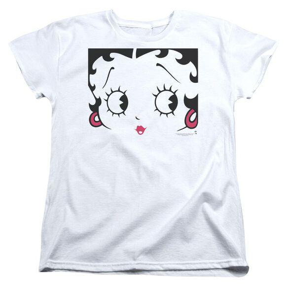 Betty Boop Close Up Short Sleeve Womens Tee T-Shirt