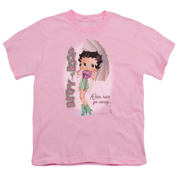 Betty Boop Rain Rain Go Away Short Sleeve Youth T-Shirt