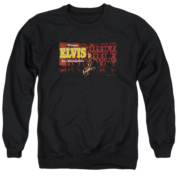 Elvis From Elvis In Memphis Adult Crewneck Sweatshirt