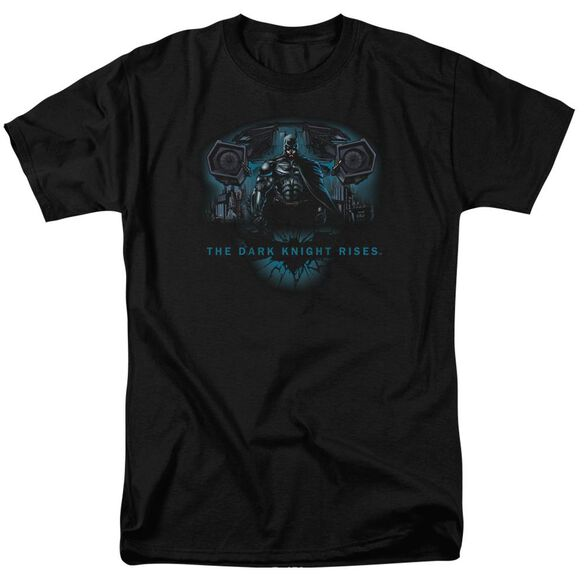 Dark Knight Rises Gothams Dark Knight Short Sleeve Adult Black T-Shirt