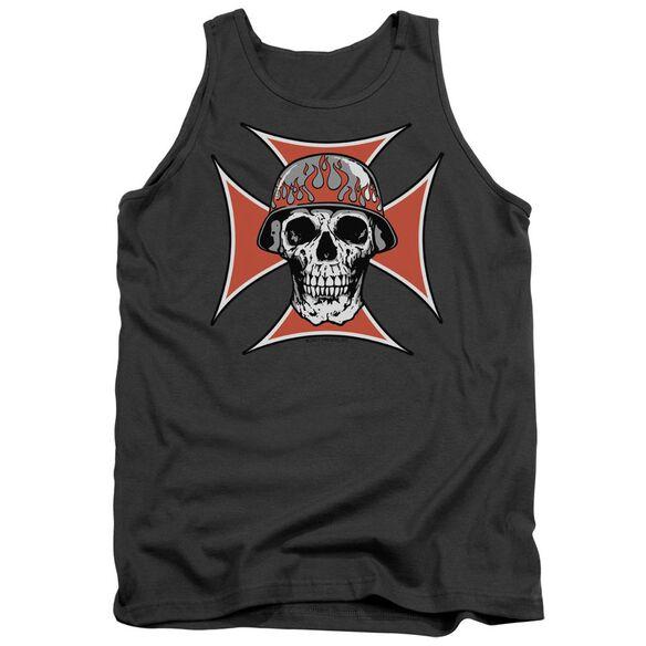 Iron Cross Skull Adult Tank