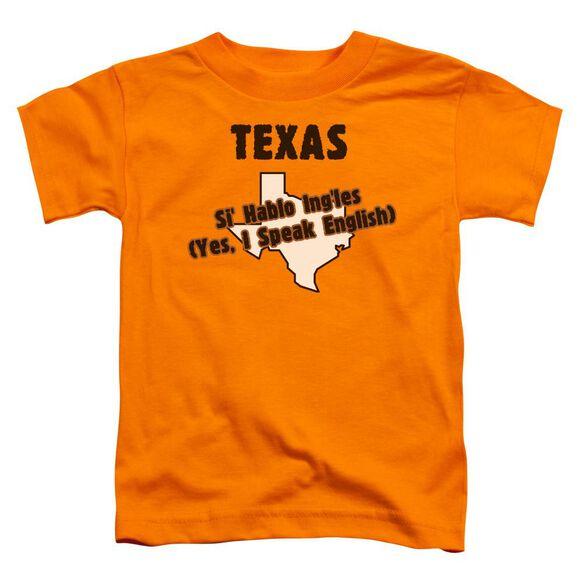 Texas Short Sleeve Toddler Tee Orange T-Shirt