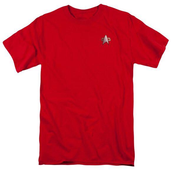 Star Trek Ds9 Command Emblem Short Sleeve Adult Cardinal T-Shirt