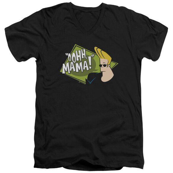 Johnny Bravo Oohh Mama Short Sleeve Adult V Neck T-Shirt