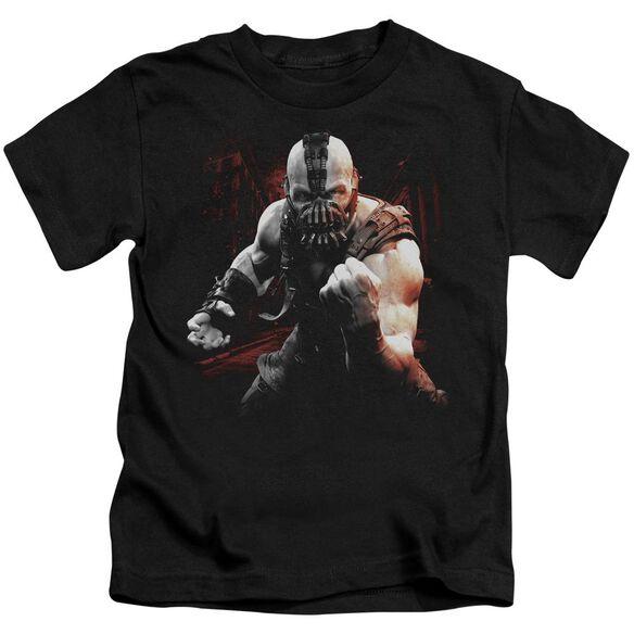 Dark Knight Rises Bane Battleground Short Sleeve Juvenile Black Md T-Shirt
