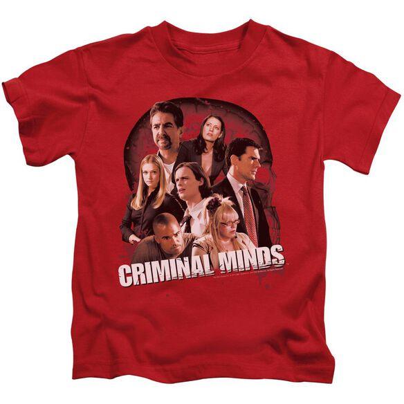 Criminal Minds Brain Trust Short Sleeve Juvenile Red T-Shirt