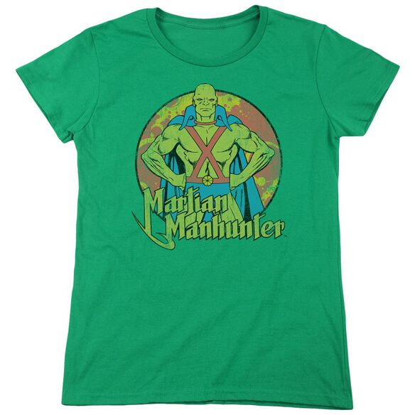 Dc Martian Manhunter Short Sleeve Women's Tee Kelly T-Shirt