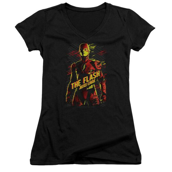 Justice League Movie The Flash Junior V Neck T-Shirt