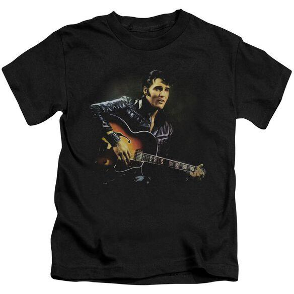 Elvis 1968 Short Sleeve Juvenile Black T-Shirt