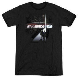 WAREHOUSE 13 THE UNKNOWN - ADULT HEATHER RINGER - BLACK