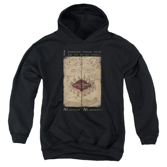 Harry Potter Marauders Map Words Youth Pull Over Hoodie