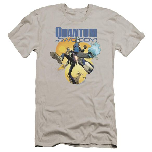 Quantum And Woody Three's A Crowd Premuim Canvas Adult Slim Fit