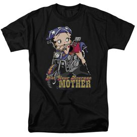 BETTY BOOP NOT YOUR AVERAGE MOTHER - S/S ADULT 18/1 - BLACK T-Shirt