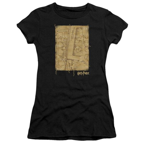 Harry Potter Marauders Map Interior Hbo Short Sleeve Junior Sheer T-Shirt