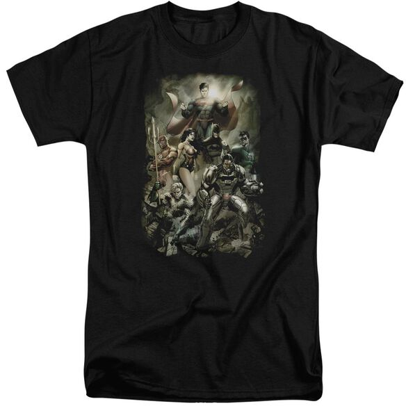 Jla Aftermath Short Sleeve Adult Tall T-Shirt