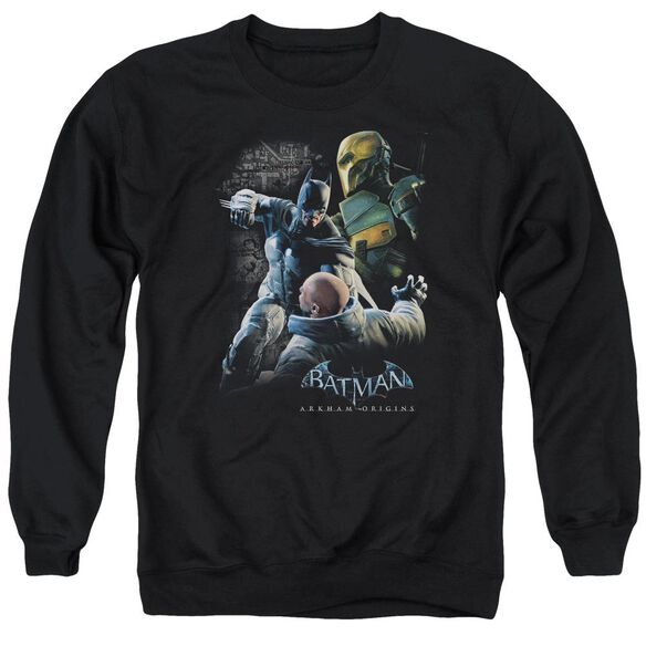 Batman Arkham Origins Punch Adult Crewneck Sweatshirt