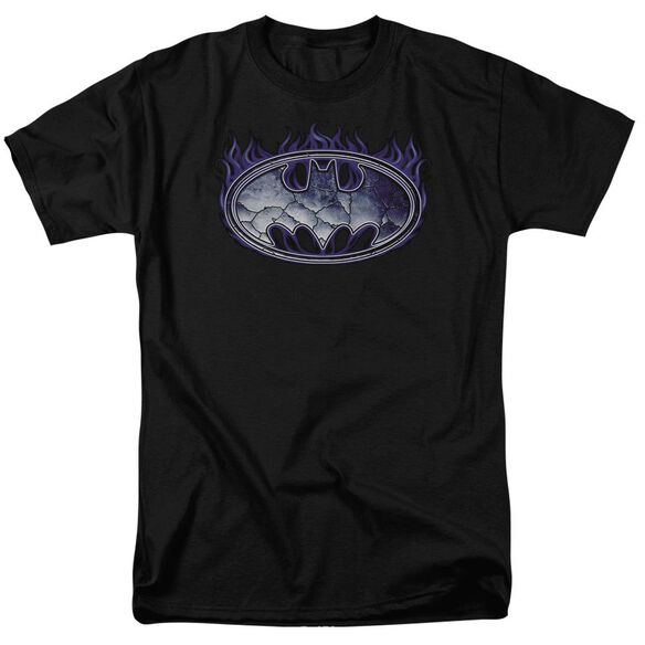 Batman Cracked Shield Short Sleeve Adult T-Shirt