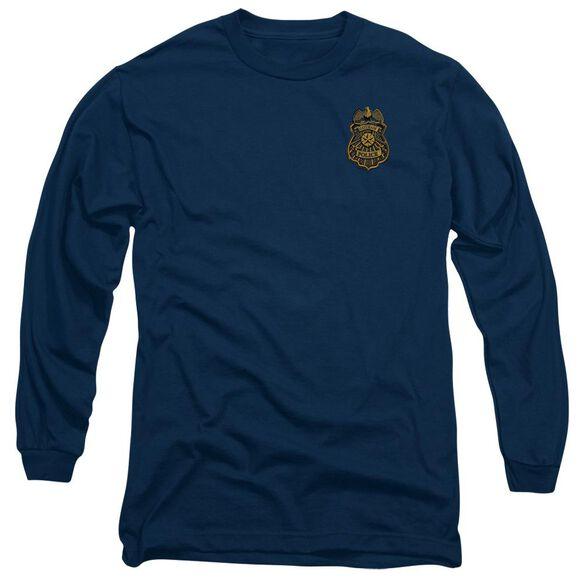Batman Arkham Knight Gotham Badge Long Sleeve Adult T-Shirt